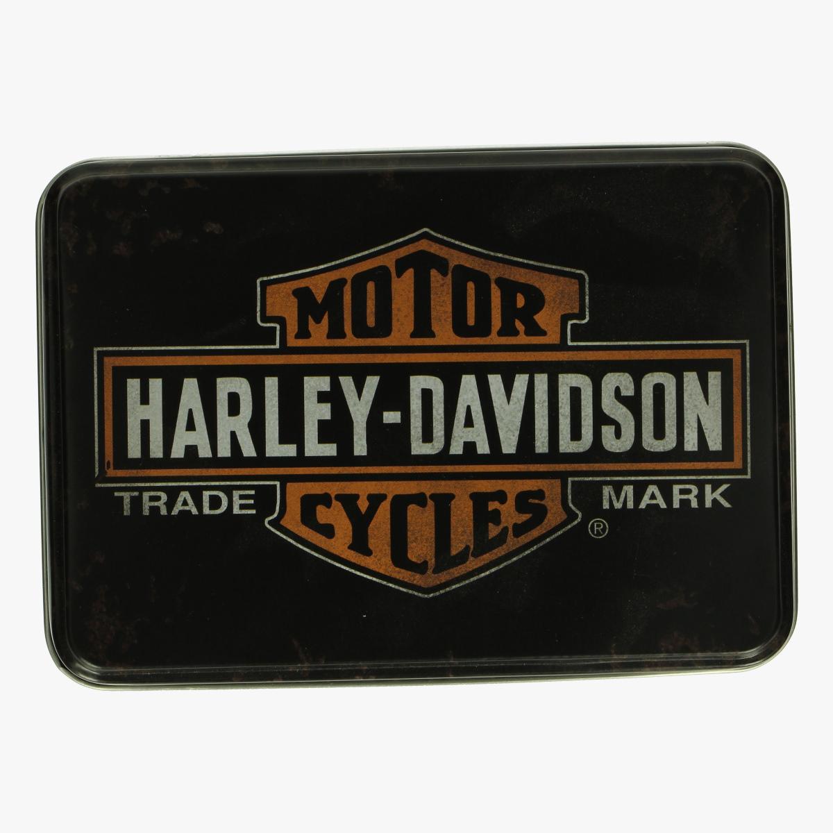 Afbeeldingen van blikken doos harley- davidson genuine motorcycles since 1903 repro