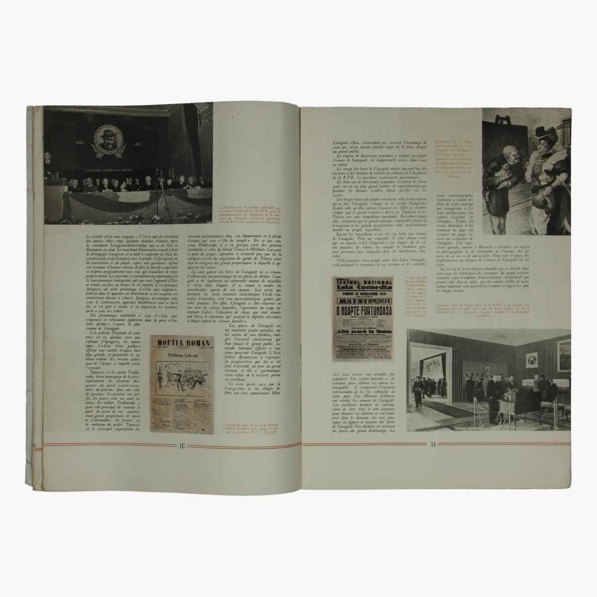 Afbeeldingen van boekje 1952 la jeunesse traivailleuse de la republique populaire roumaine