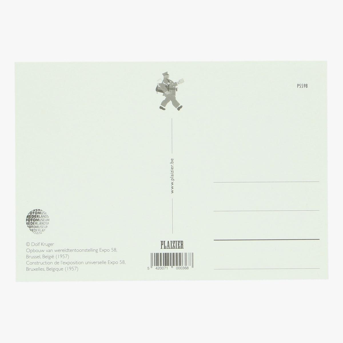 Afbeeldingen van postkaart opbouw van de wereldtentoonstelling expo 58 bxl (1957) repro
