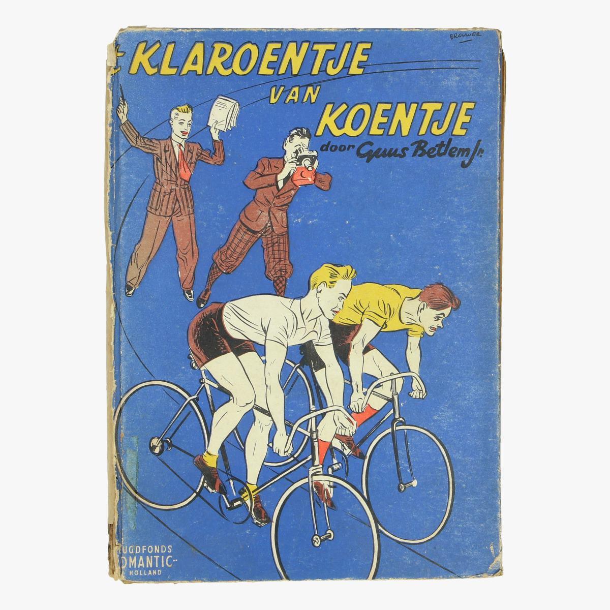 Afbeeldingen van oude boek wielrennen 't Klaroentje van koentje uitgever jeugdfonds-romantic-holland