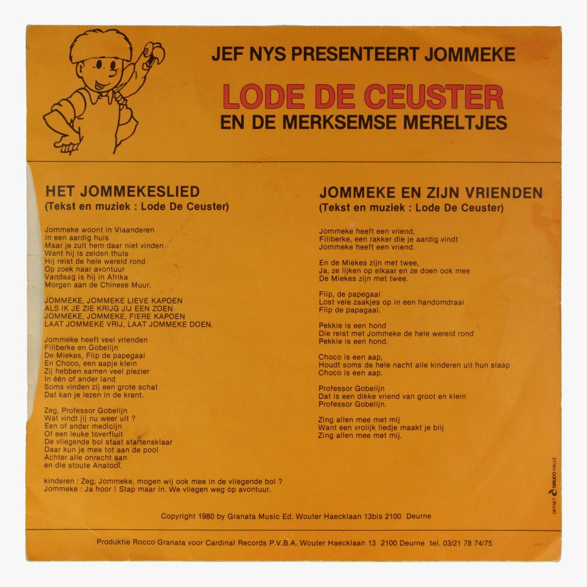 Afbeeldingen van Klein LP Zingen met Jommeke.