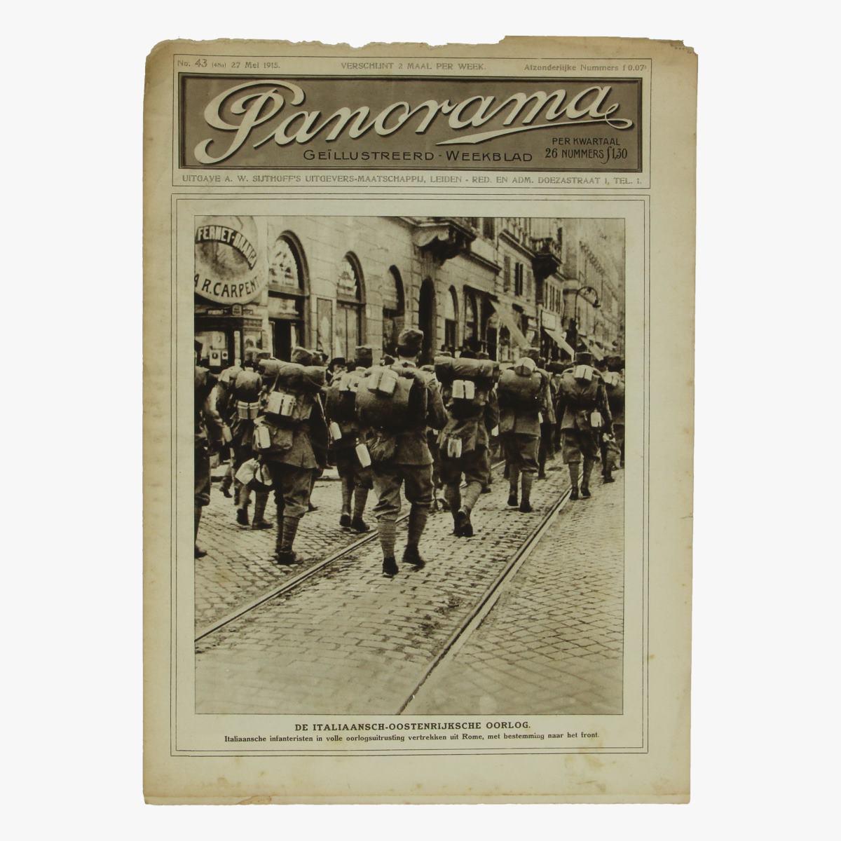 Afbeeldingen van oude weekblad panorama N°43  27 mei 1915