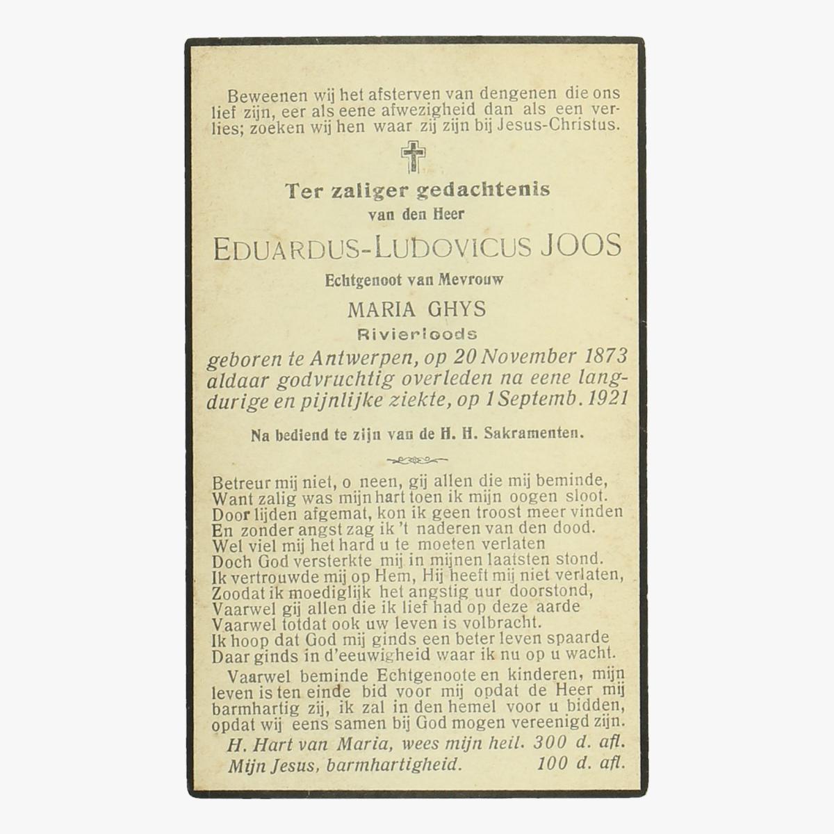 Afbeeldingen van doodsprentje Eduardus-Ludovicus-Joos
