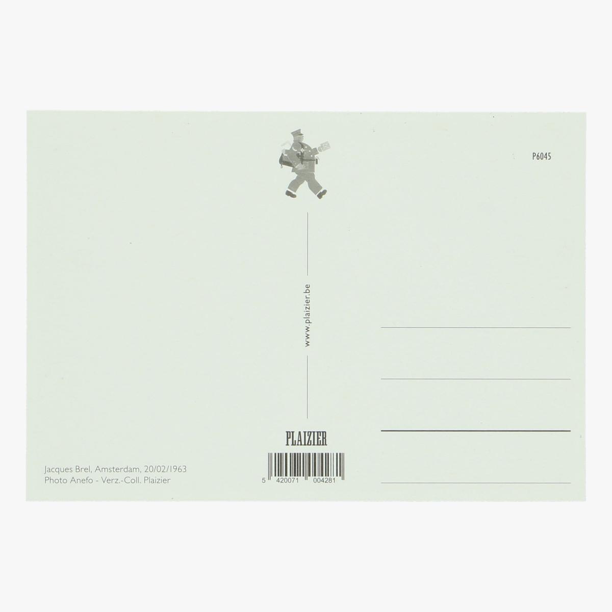Afbeeldingen van postkaart Jacques Brel, Amsterdam 1963 repro