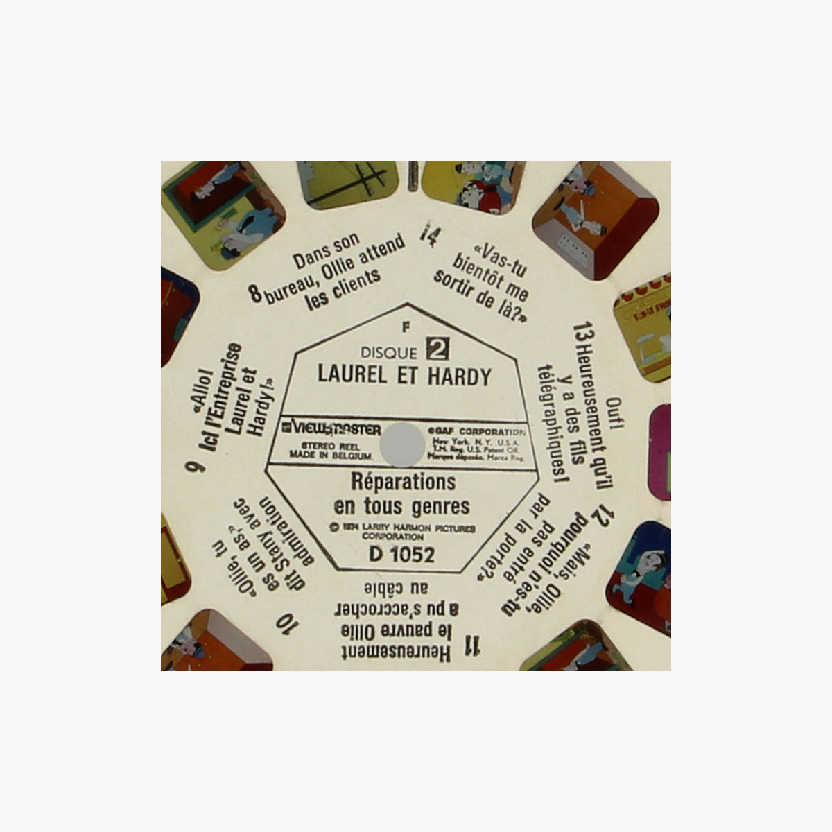 Afbeeldingen van View-Master Laurel et Hardy. Réparations en tous genres. Nr. D 1052