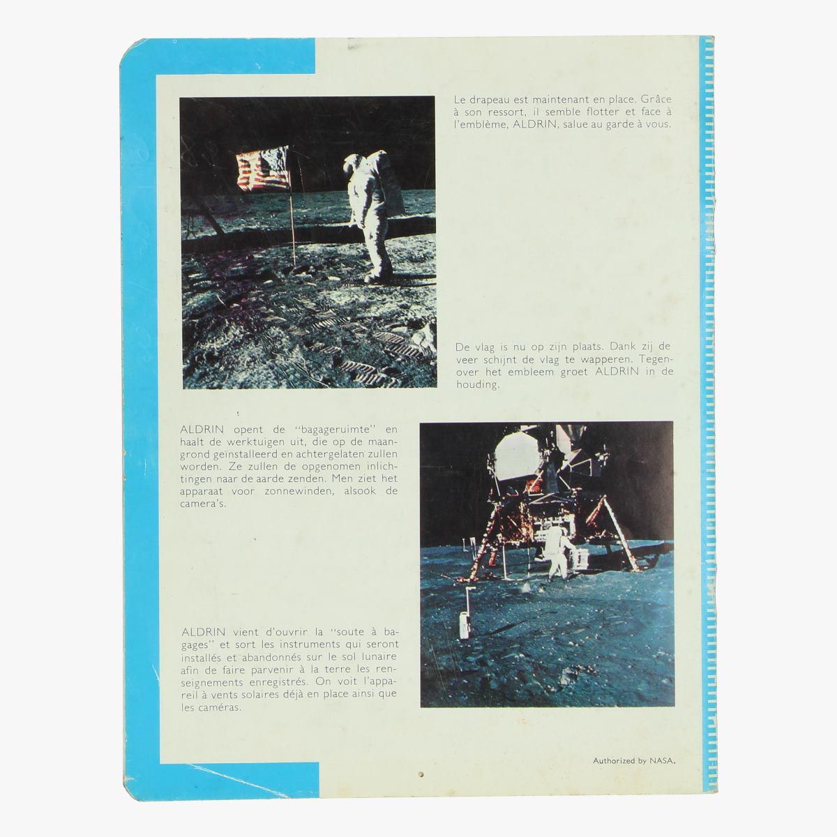 Afbeeldingen van succes amstrong wandelt op de maan athorized by nasa