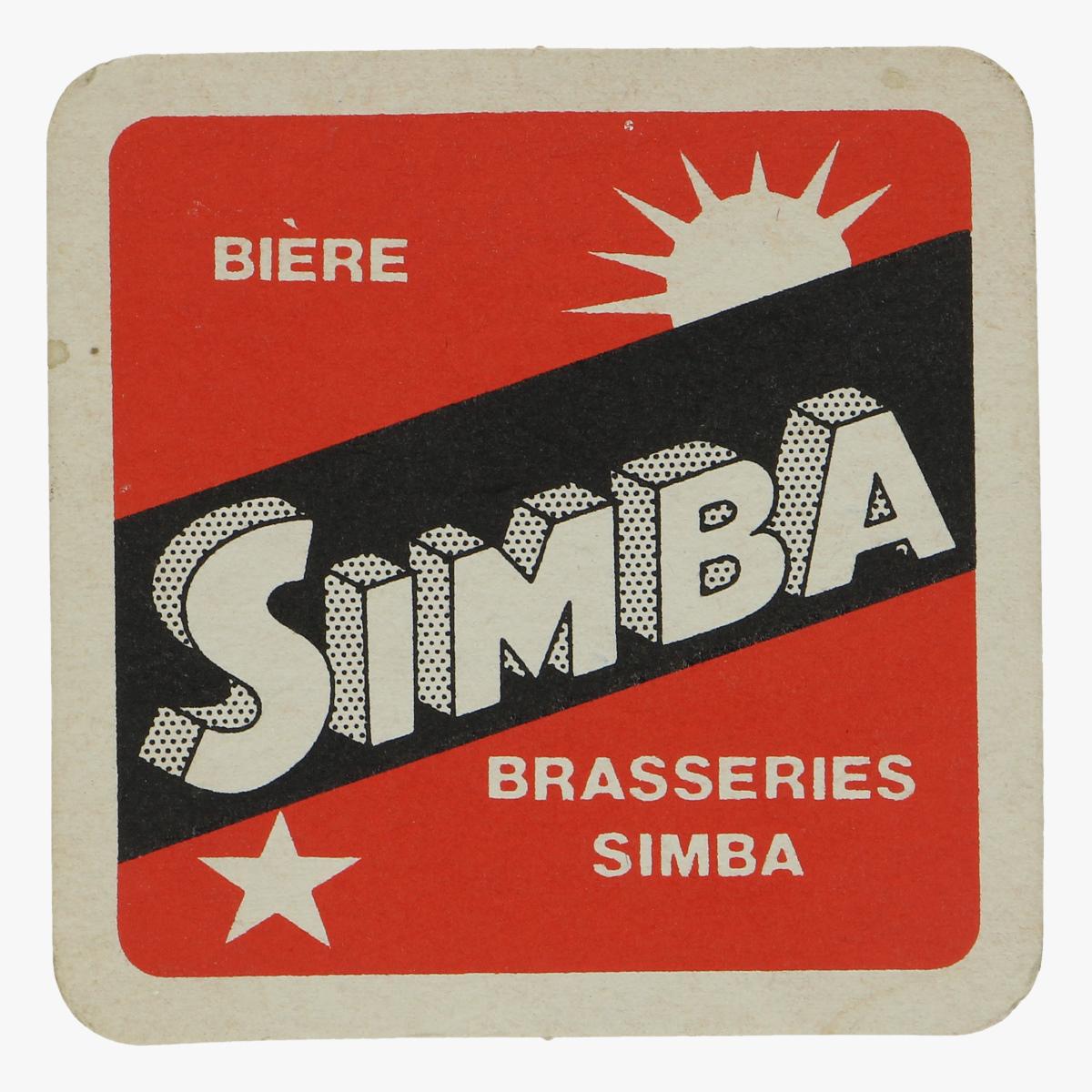 Afbeeldingen van bierkaartje Simba