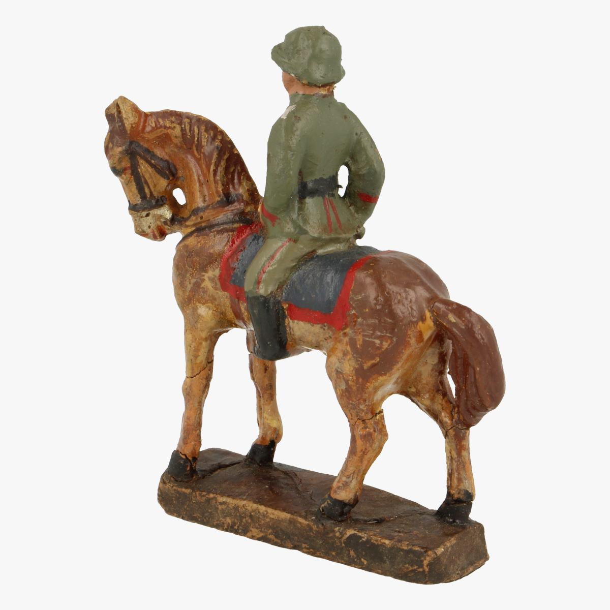 Afbeeldingen van Elastolin soldaatje met paard Leyla