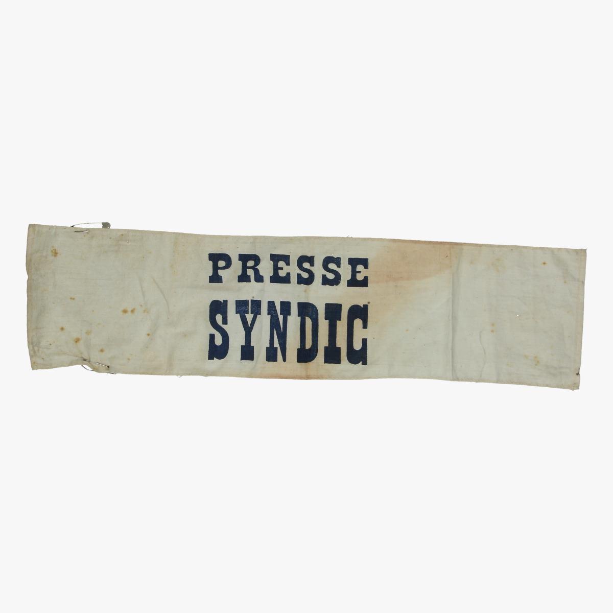 Afbeeldingen van wielrenner  oude doek rug sponsor presse sindic
