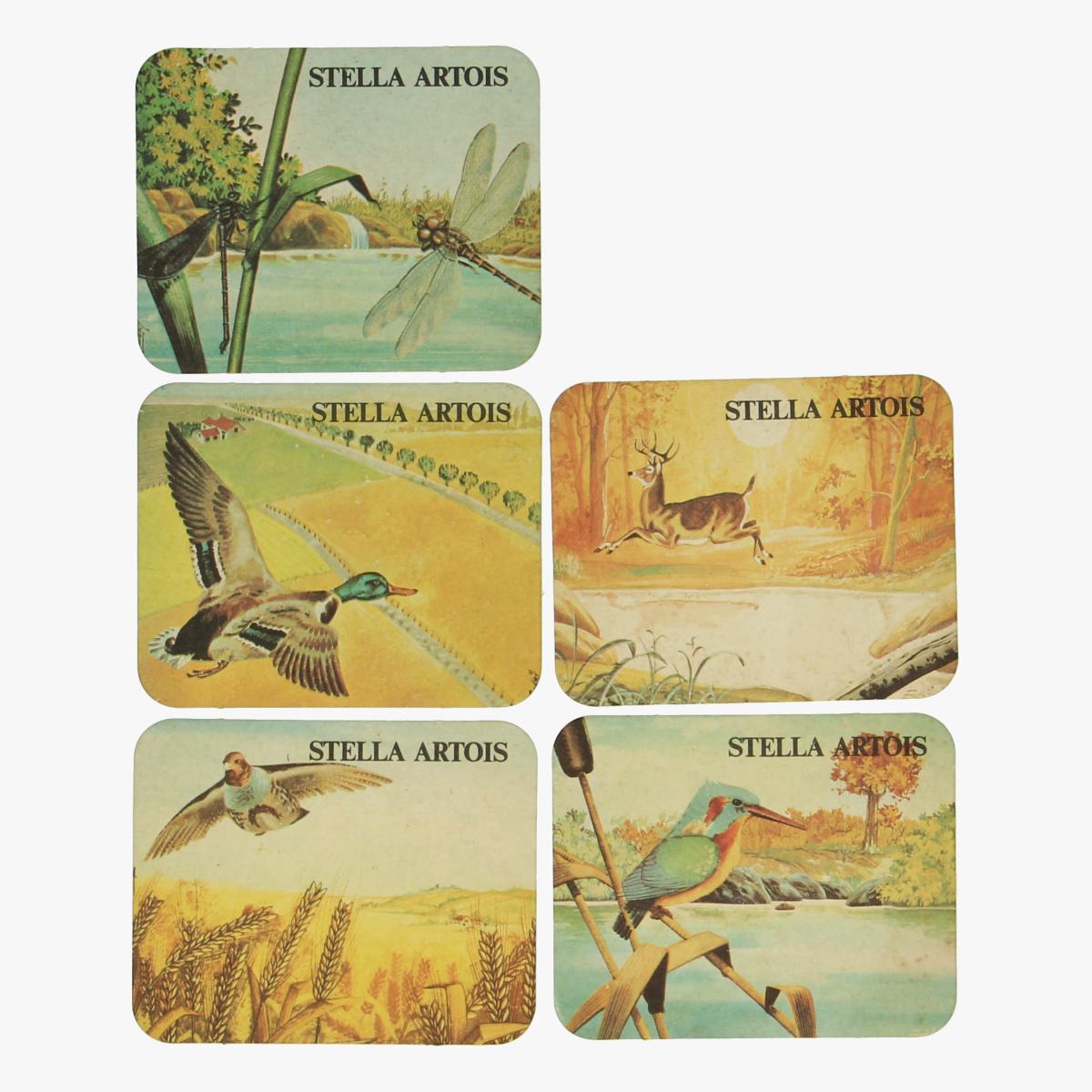 Afbeeldingen van Stella Artois 5 bierkaartjes dieren