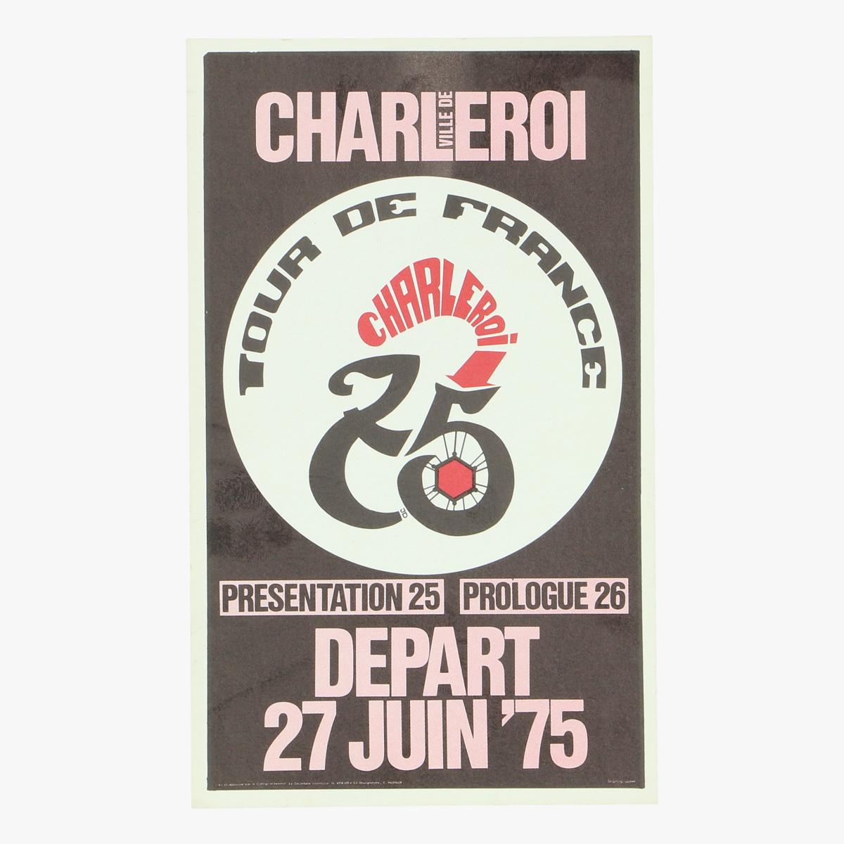 Afbeeldingen van flyer charleroi tour de france 27 juni '75