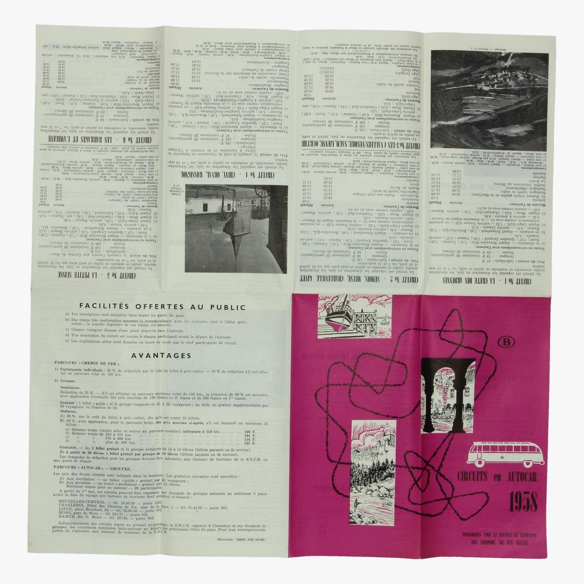 Afbeeldingen van expo 58 folder circuits en autocar 1958