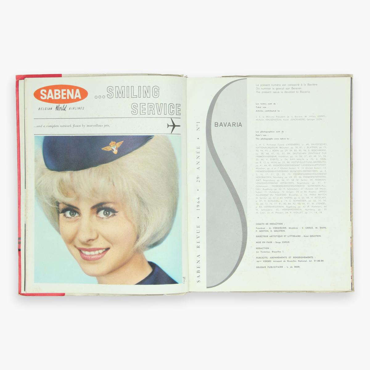 Afbeeldingen van sabena revue 1964 magazine