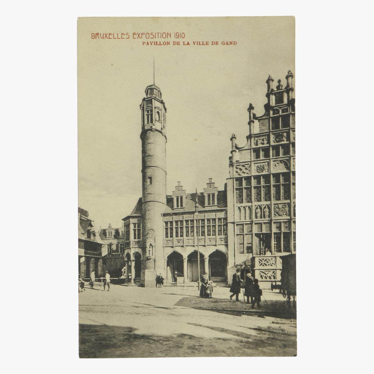Afbeeldingen van postkaart bruxelles exposition 1910 pavillon de la ville gand
