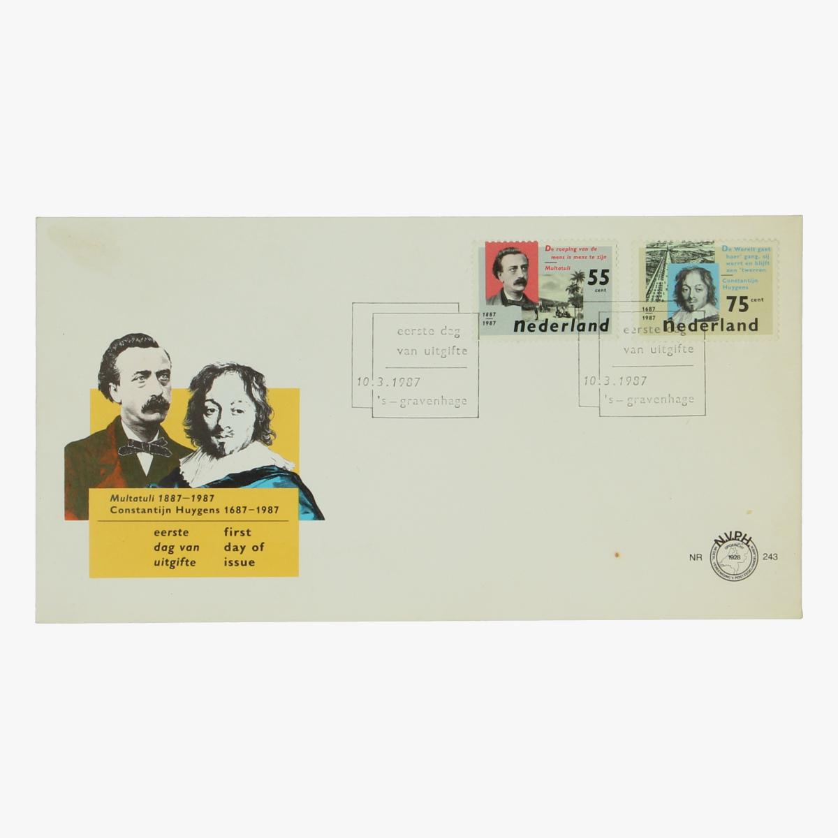 Afbeeldingen van Herinneringspostzegel Multatuli 1987 NL