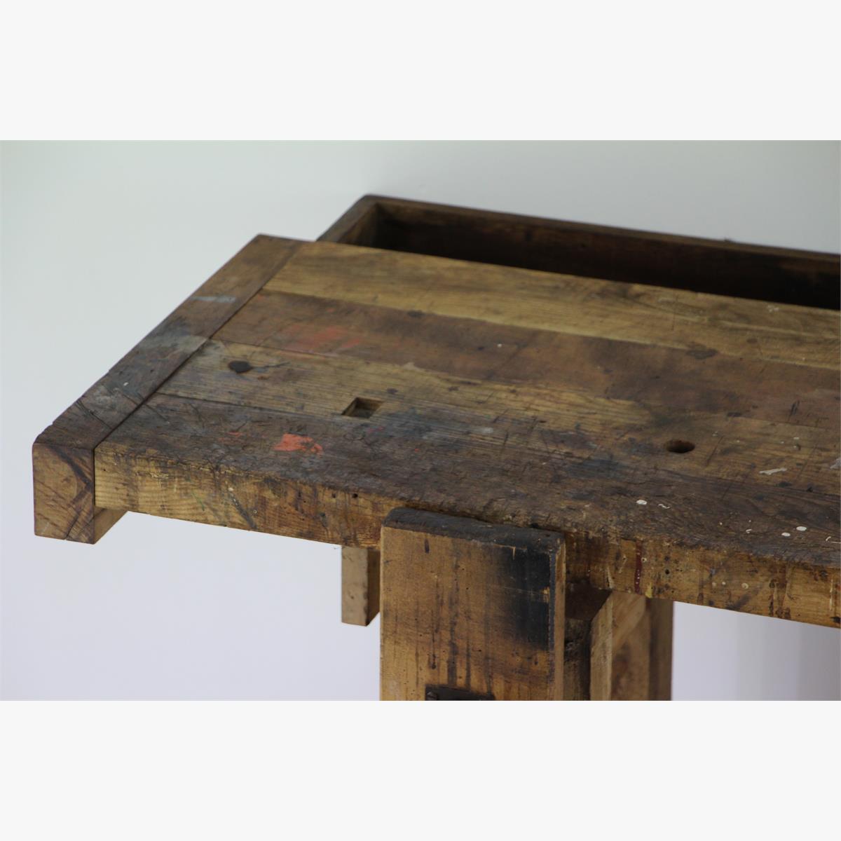 Afbeeldingen van eiken timmermanstafel