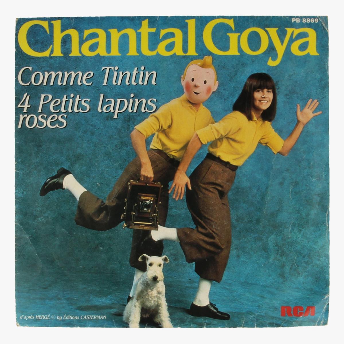 Afbeeldingen van Chantal Goya comme Tintin 4 Petits lapins roses