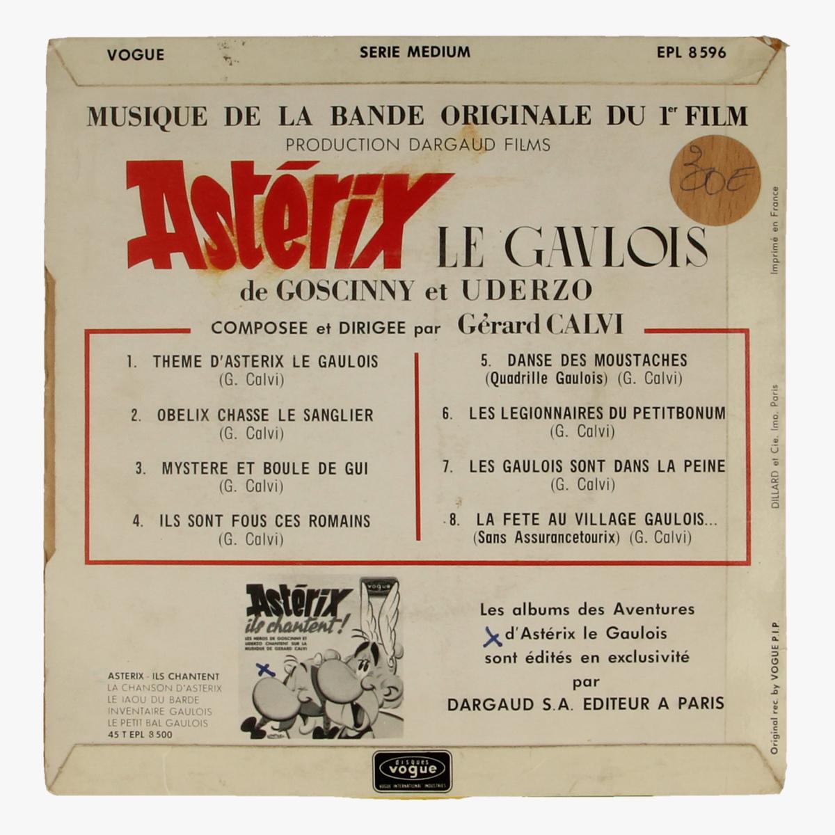 Afbeeldingen van Asterix en Obelix 45toeren LP