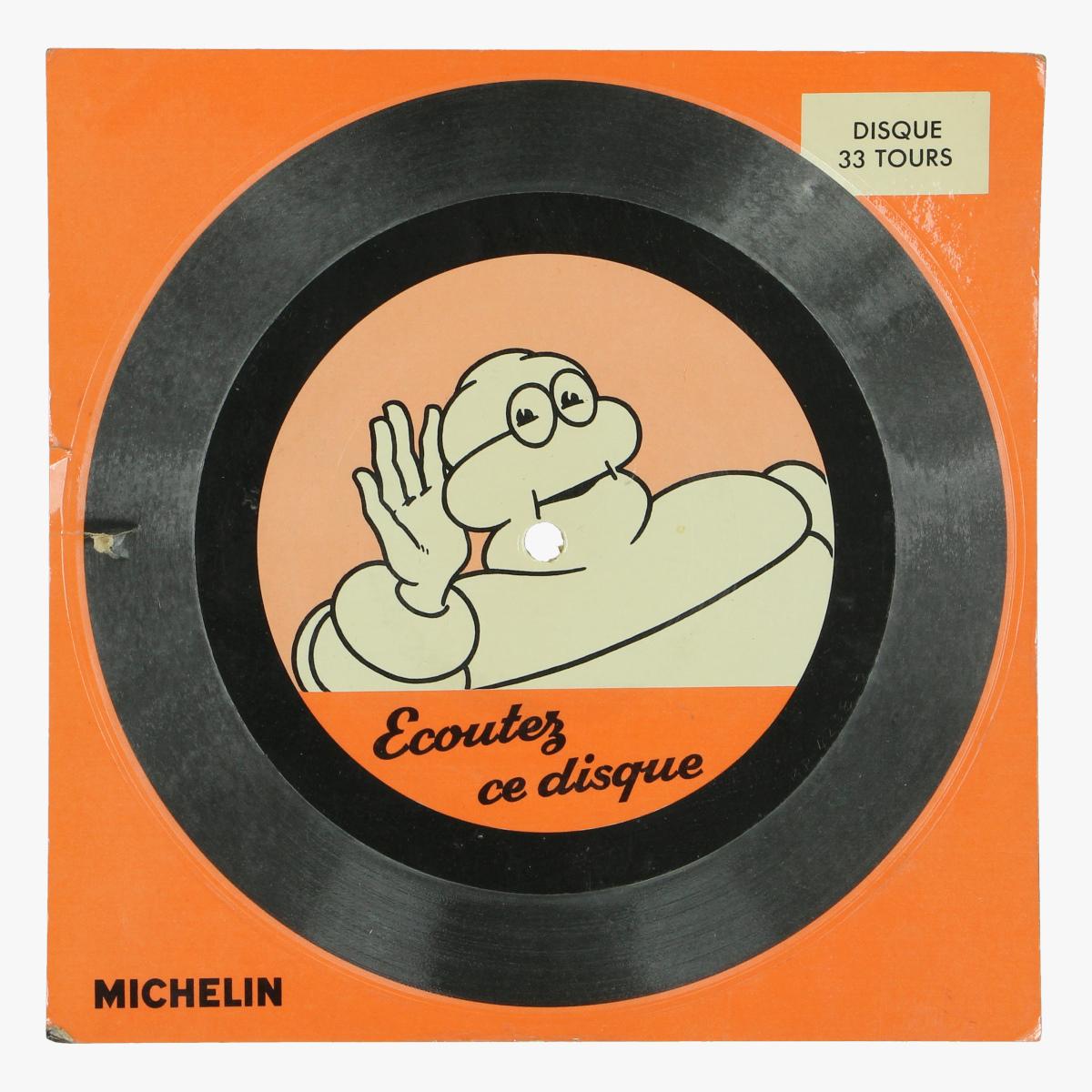 Afbeeldingen van single michelin ecouter ce disque 33 tours