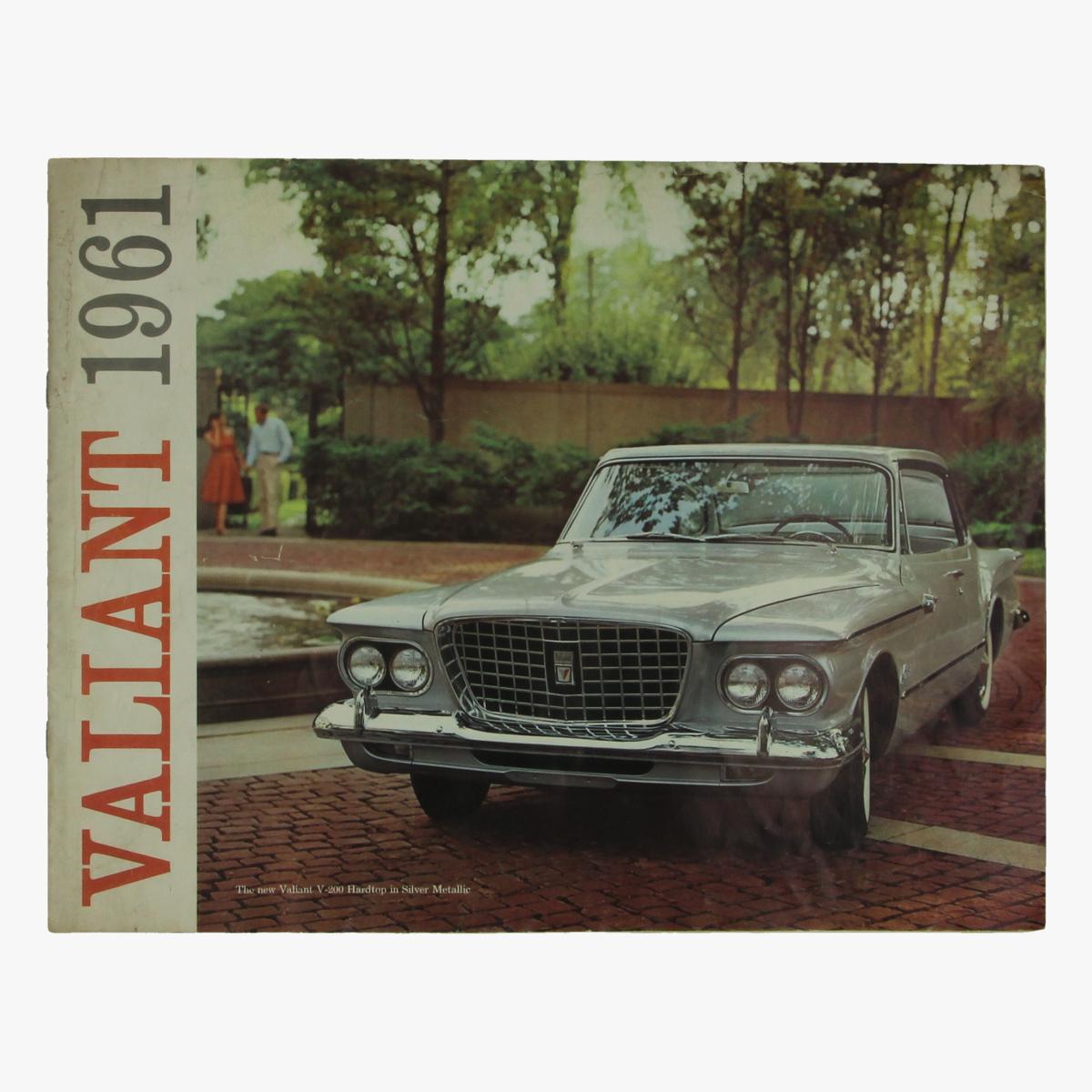 Afbeeldingen van oude reclame folder Valiant 1961