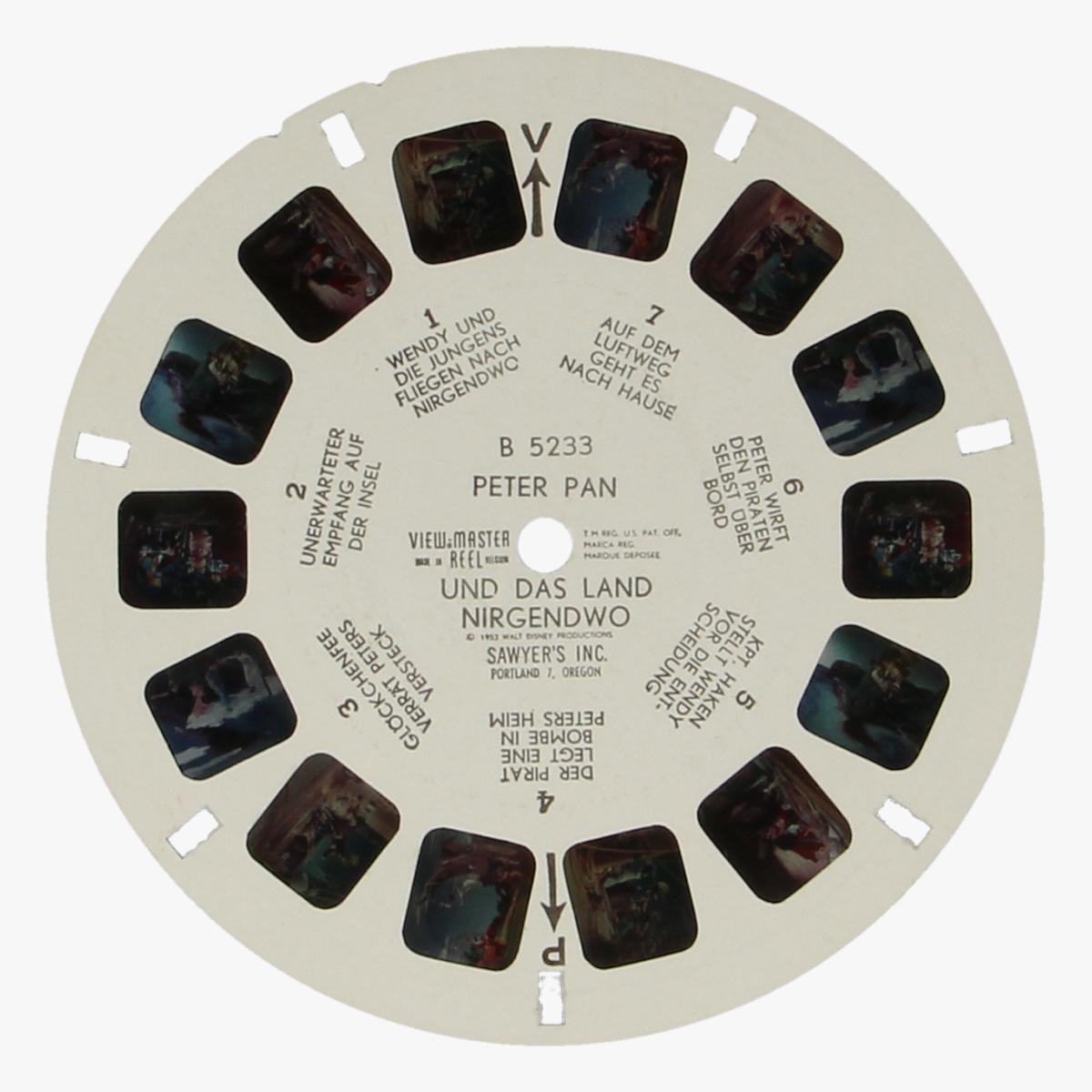 Afbeeldingen van View-Master Peter Pan. Nr. B 5233, DX 6,