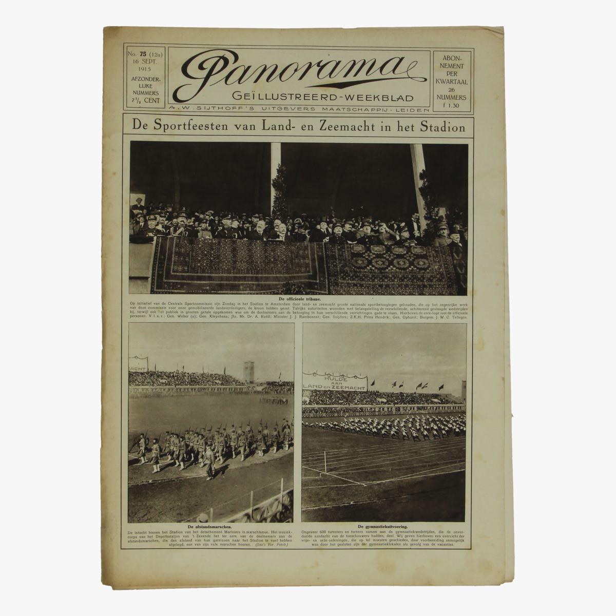 Afbeeldingen van oude weekblad panorama N°75  16 sept 1915