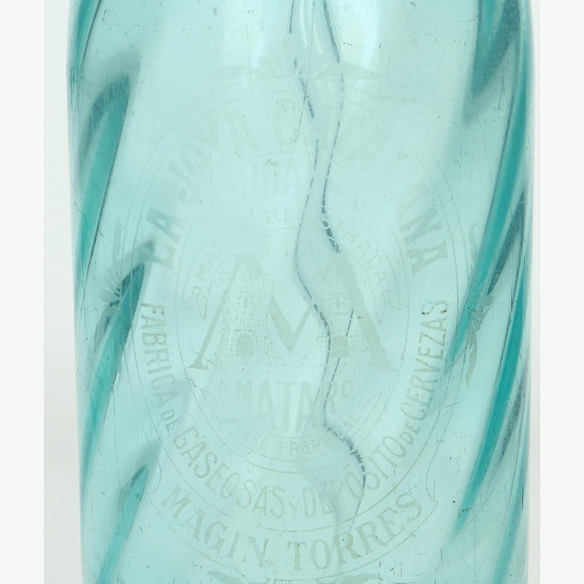 Afbeeldingen van oude soda fles la joya catalana -mataro fabrica de gaseosasy deposito de cervezas