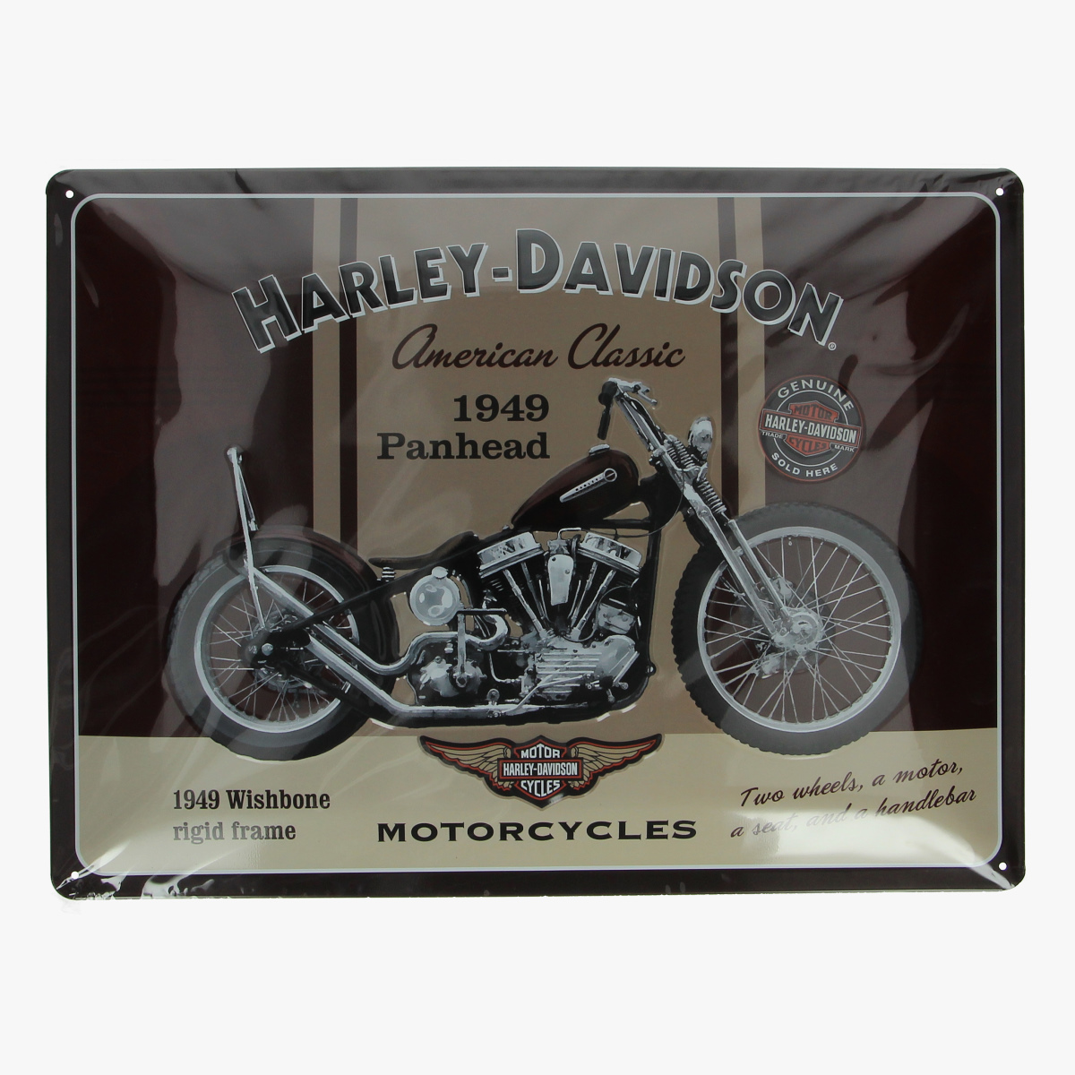Afbeeldingen van blikken bord Harley-Davidson repro geseald