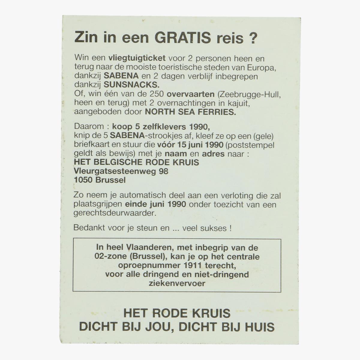 Afbeeldingen van sticker roger rabit disney, sabena, het belgische rode kruis 1990