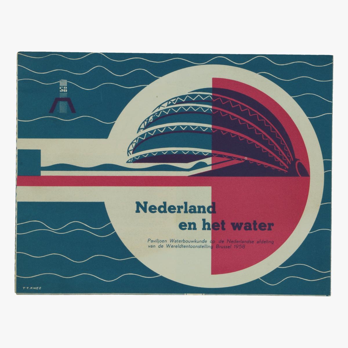 Afbeeldingen van expo 58 folder nederland en het water