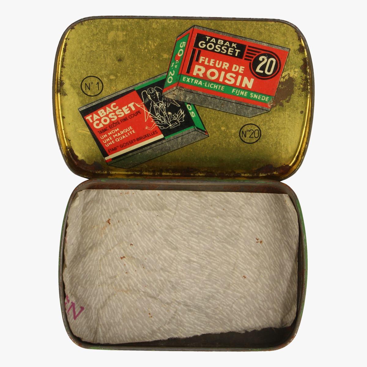 Afbeeldingen van tabaks doosje gosset