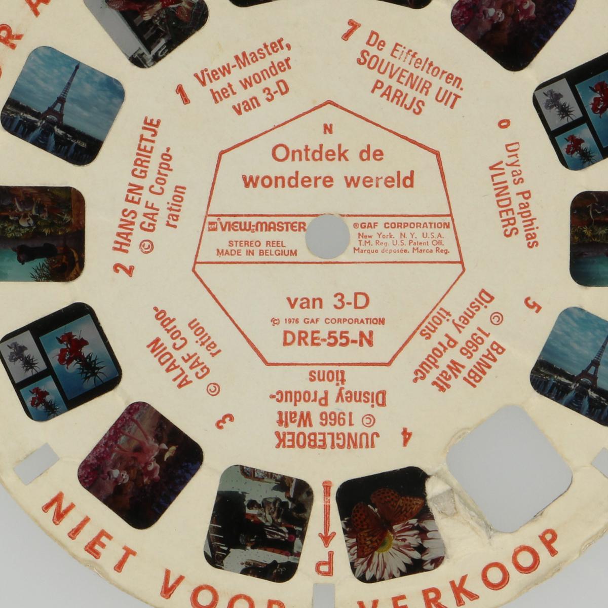 Afbeeldingen van View-master Ontdek de wondere wereld van 3-D DRE-55-N