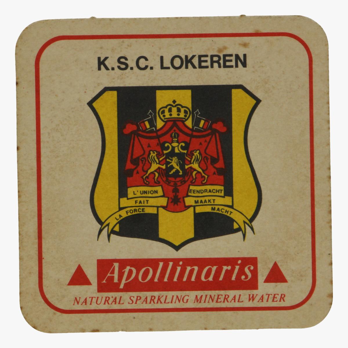 Afbeeldingen van bierkaartje k.s.c. lokeren apollinaris