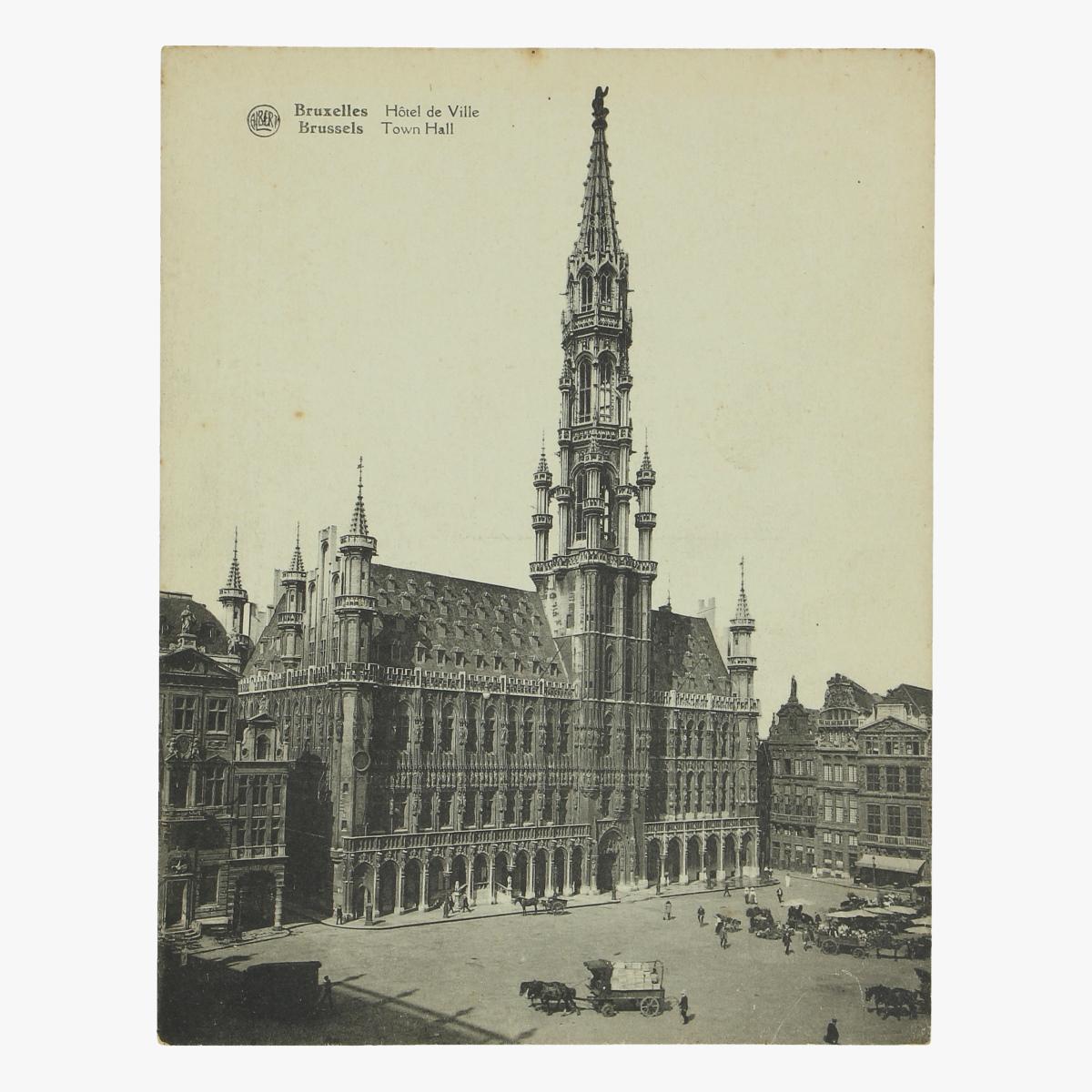 Afbeeldingen van oude postkaart hotel de villes brussel
