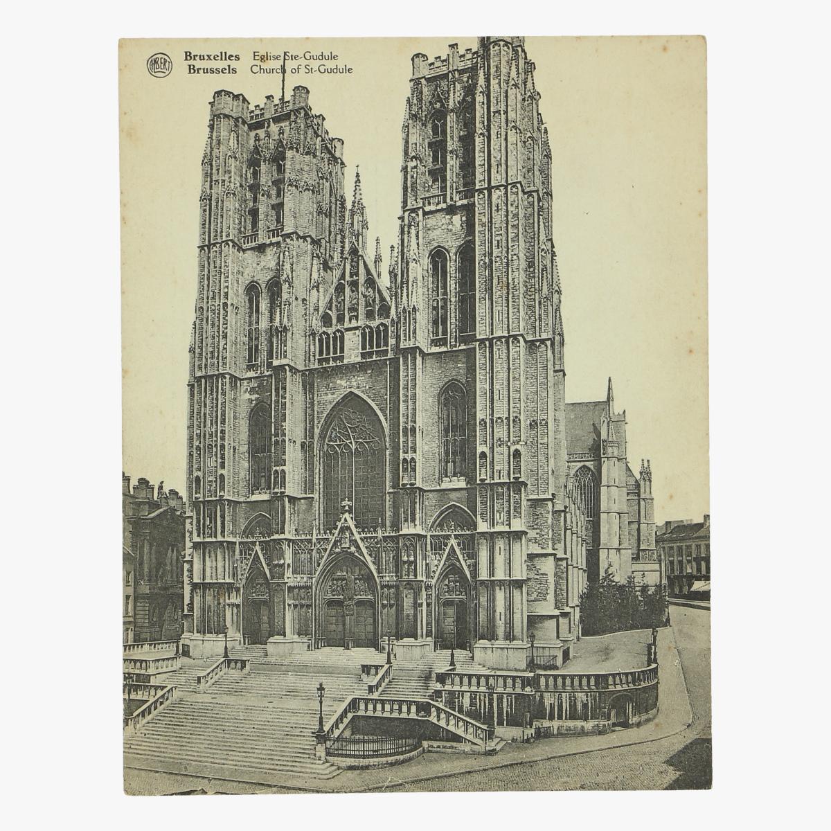 Afbeeldingen van oude postkaart brussels church of st-gudule