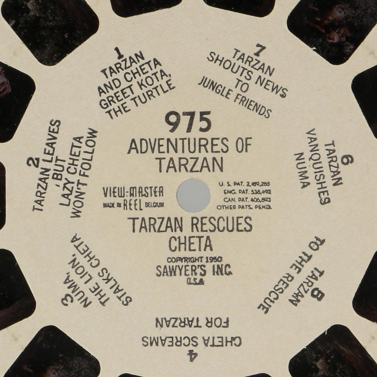 Afbeeldingen van View-master Adventures of Tarzan: Tarzan rescues cheta 975
