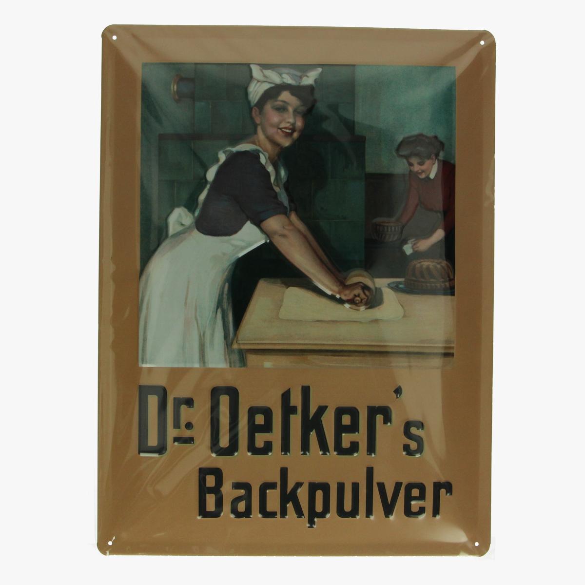 Afbeeldingen van blikken bord dr oetker's repro geseald