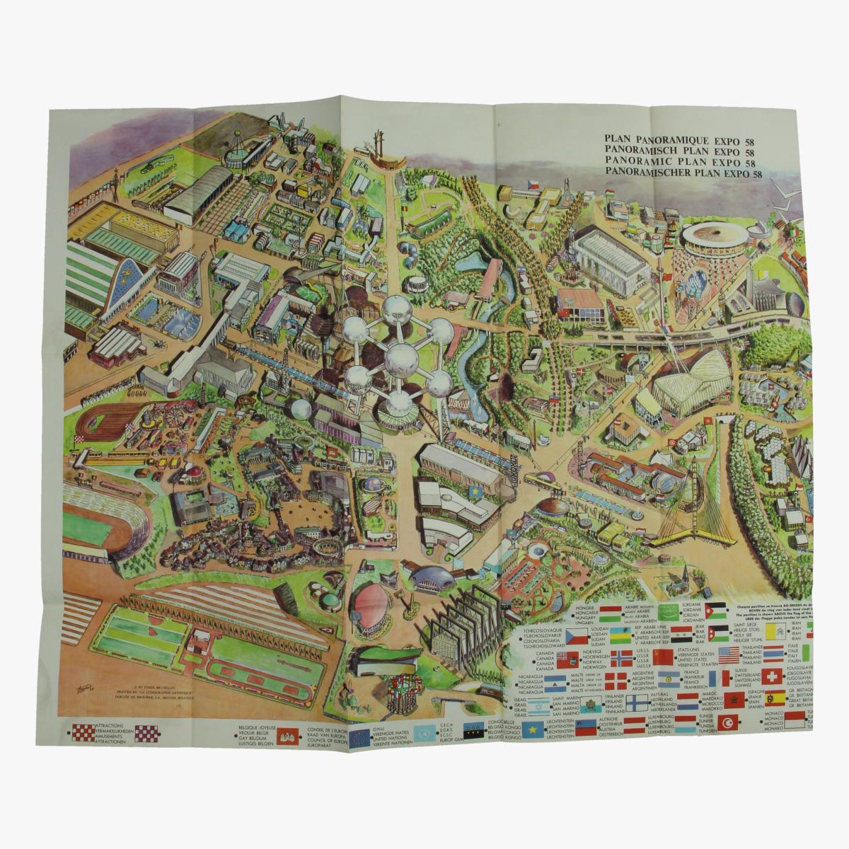 Afbeeldingen van panoramisch plan expo 58