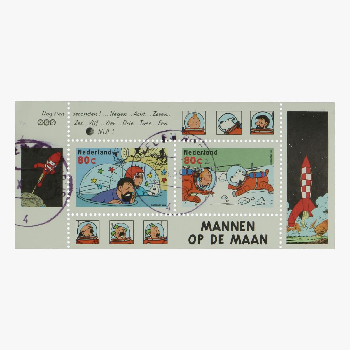 Afbeeldingen van Postzegels Kuifje Mannen op de Maan NL