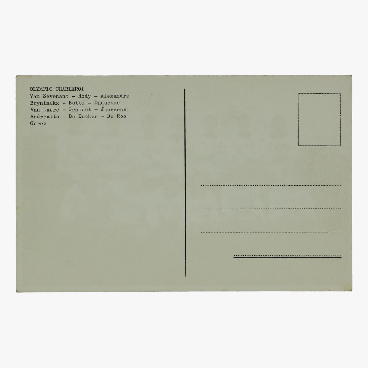Afbeeldingen van oude postkaart voetbal olympic charleroi