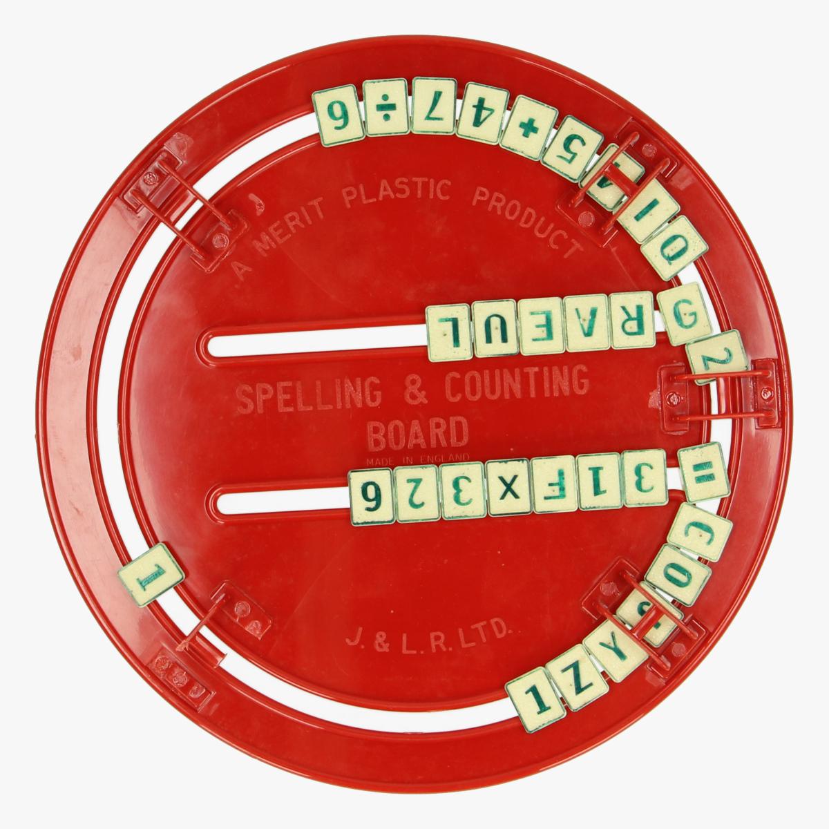 Afbeeldingen van Plastic Spelling and counting board.