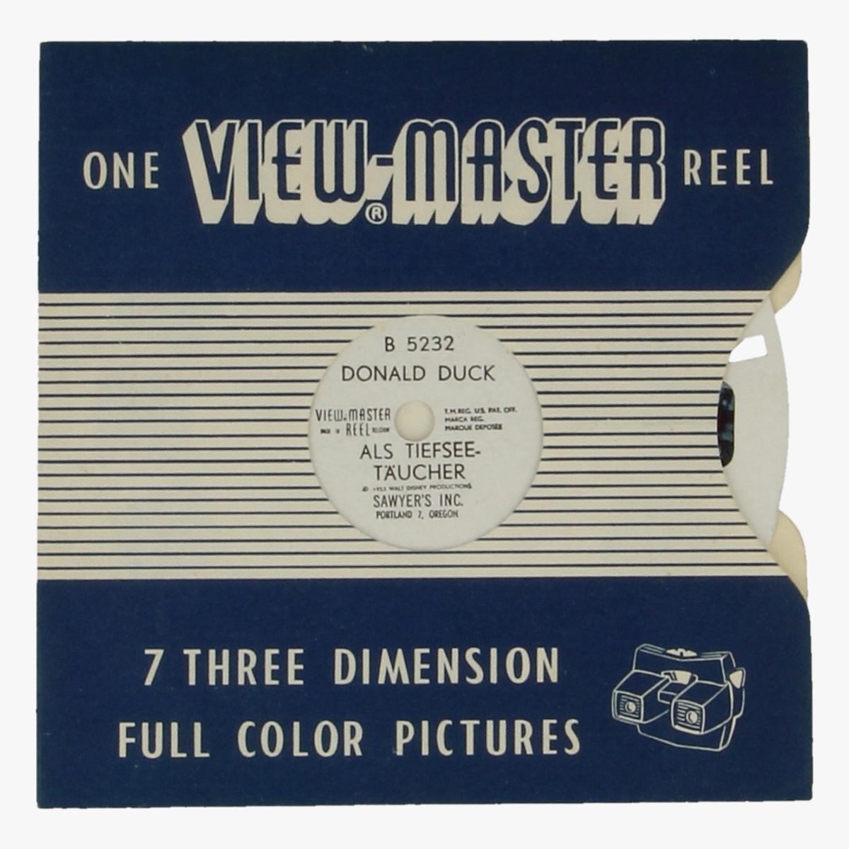 Afbeeldingen van View-master Donald Duck Als Tiefsee-täucher B5232