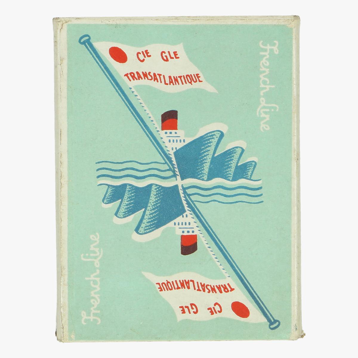 Afbeeldingen van oude speelkaarten French Line compagnie generale transatlantique