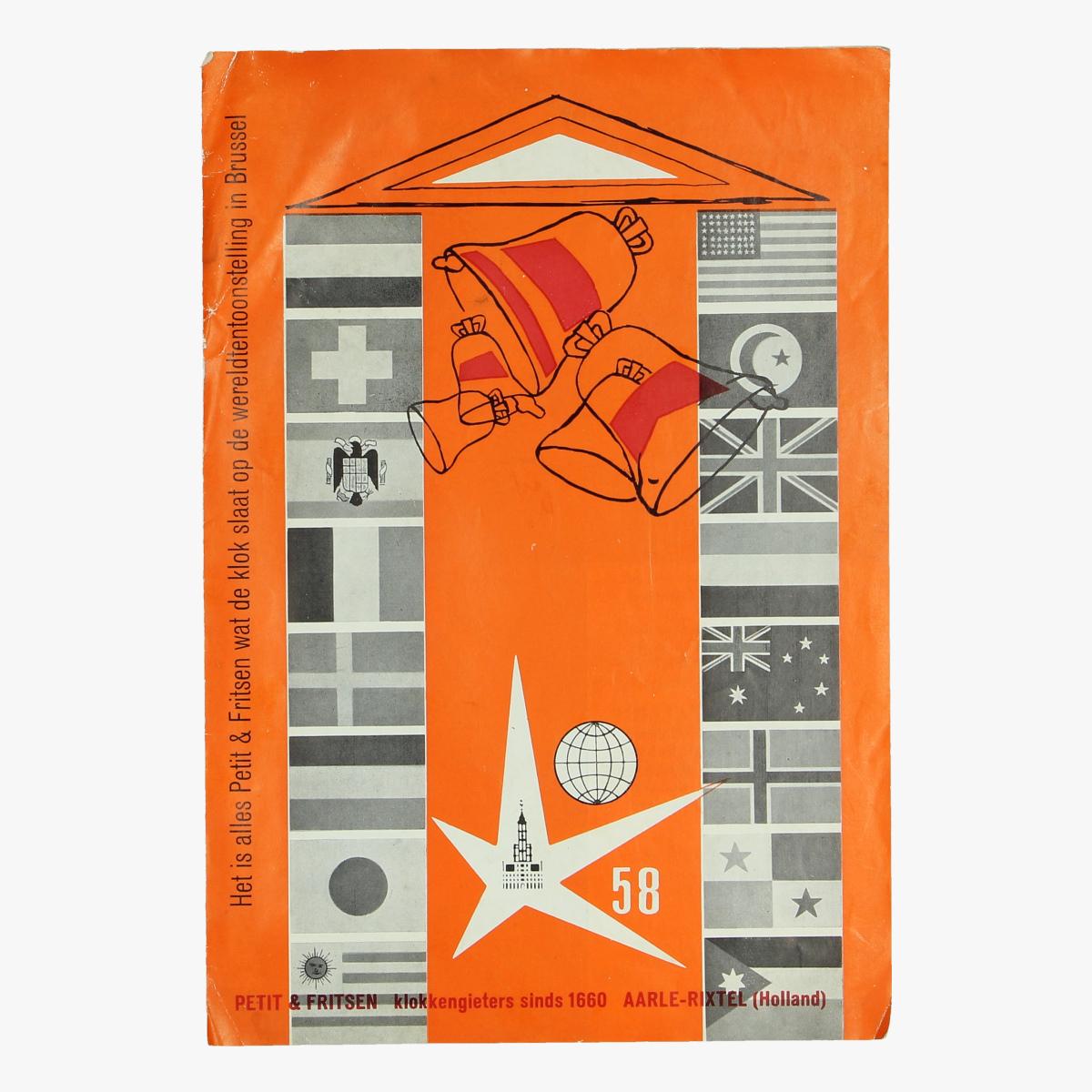 Afbeeldingen van expo 58  folder petit & fritsen klokkengieters