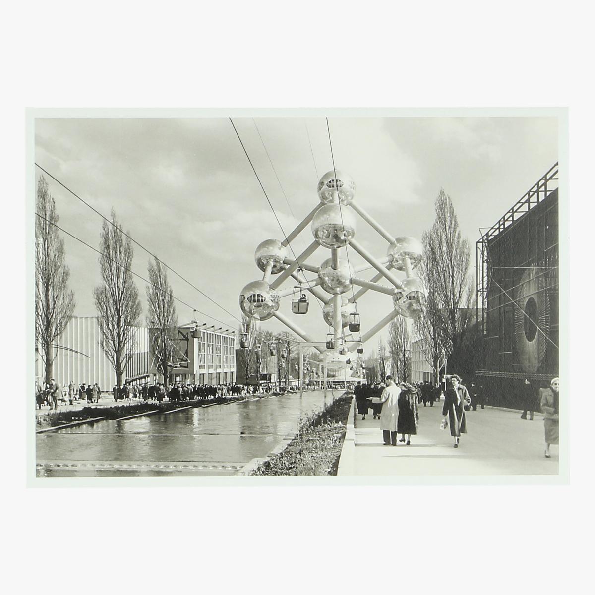 Afbeeldingen van postkaart wereldtentoonstelling bxl 17 april 1958 19 oct repro