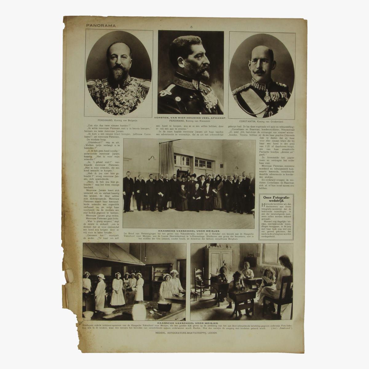 Afbeeldingen van oude weekblad panorama N°81  7 oct. 1915.