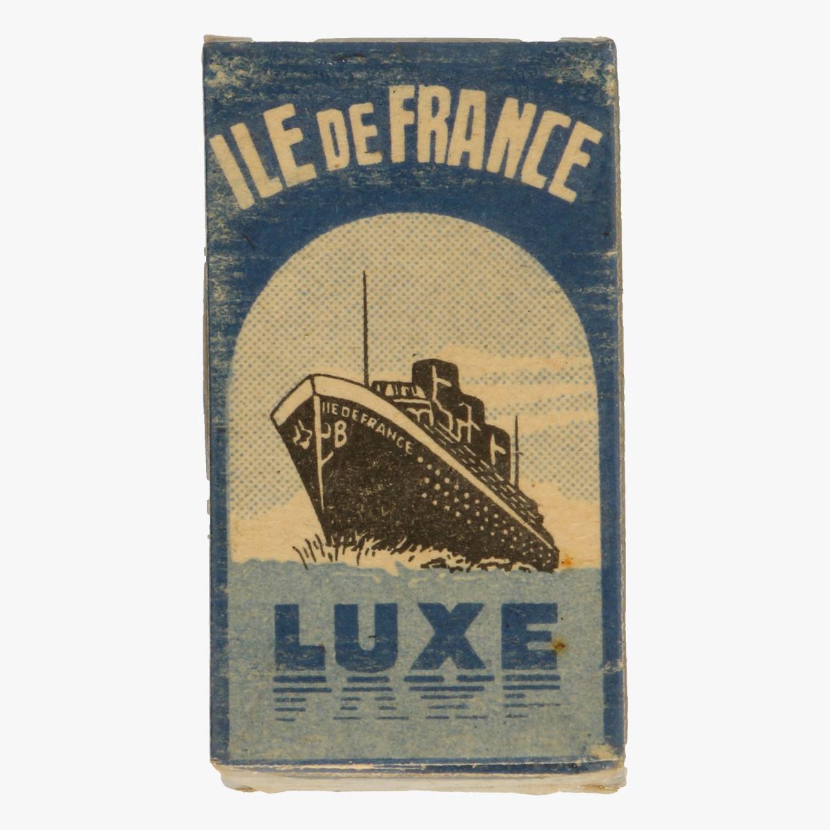 Afbeeldingen van 5 scheermesjes  il de france luxe bleue made in france
