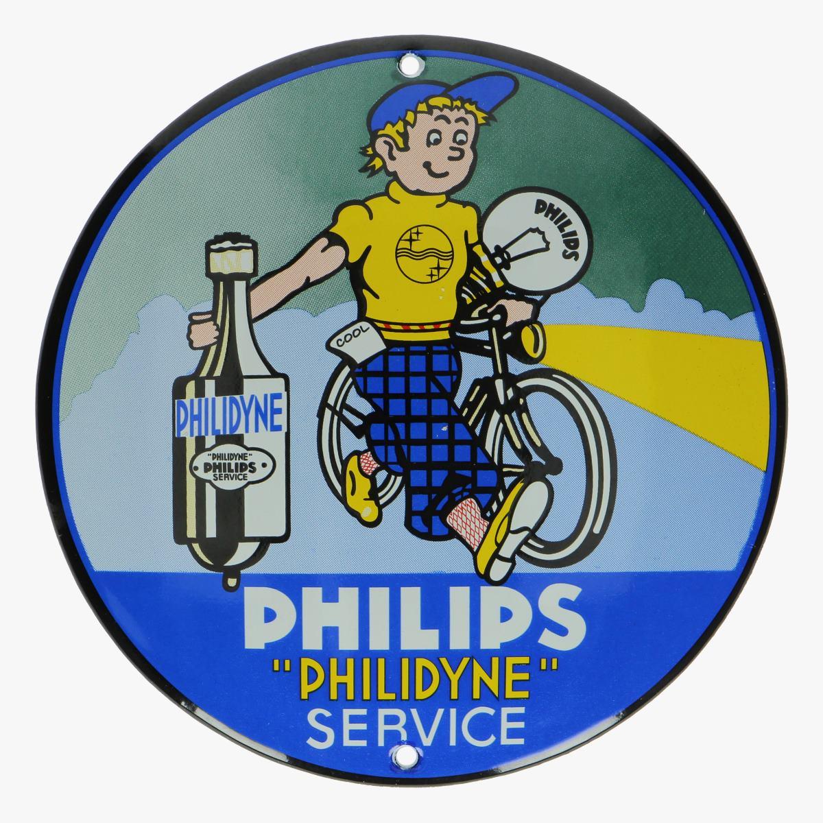 Afbeeldingen van emaille bordje philips philidyn service