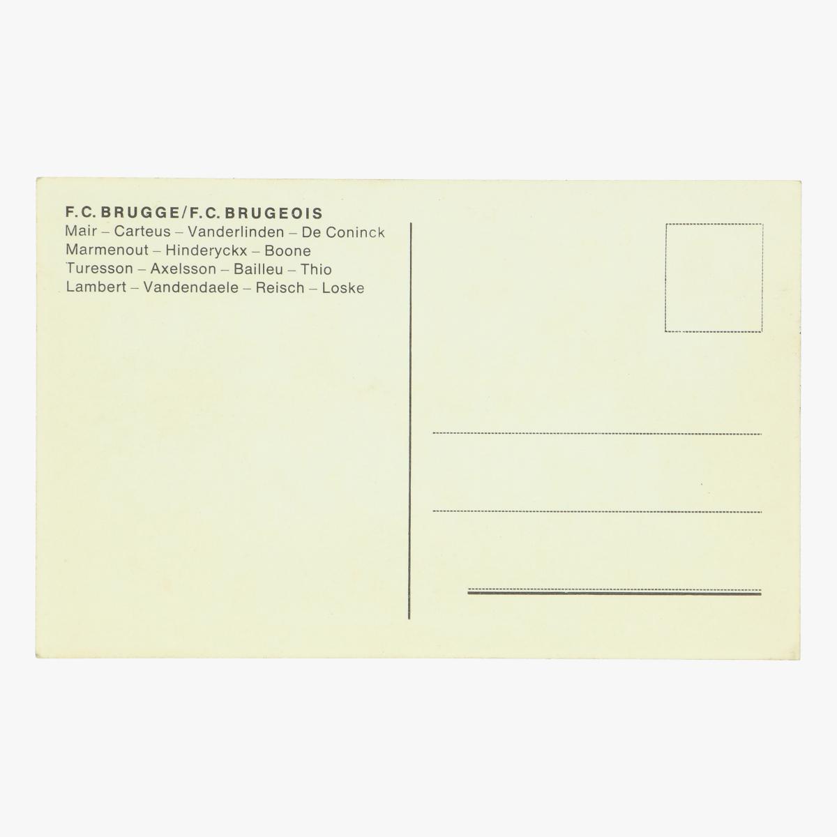 Afbeeldingen van oude postkaart voetbal f.c . Brugge / f.c. Brugeois