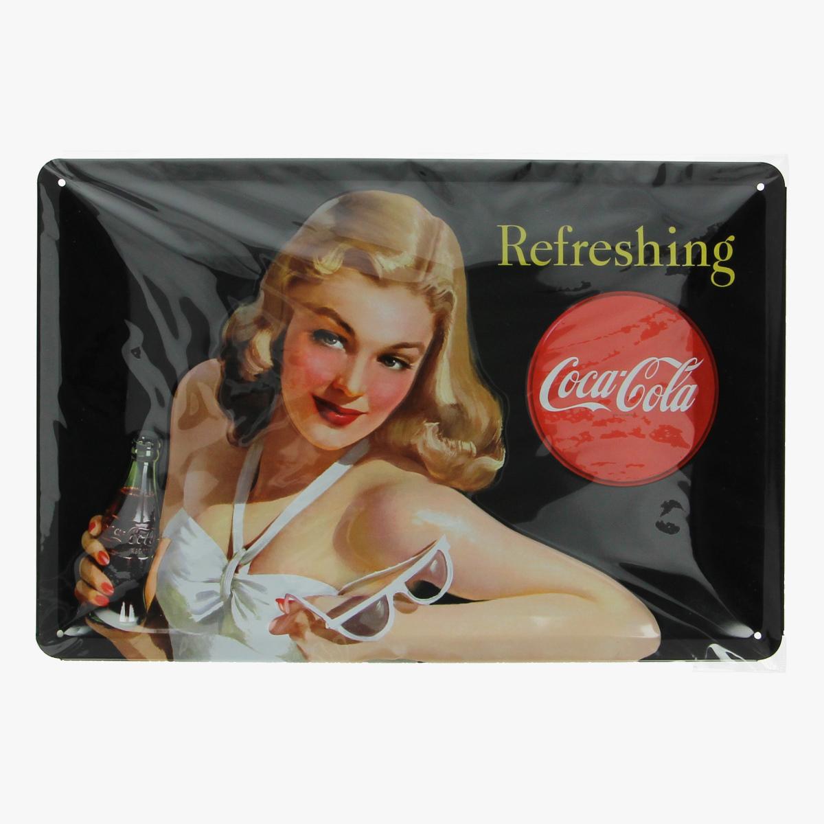 Afbeeldingen van blikken bordje coca cola repro geseald